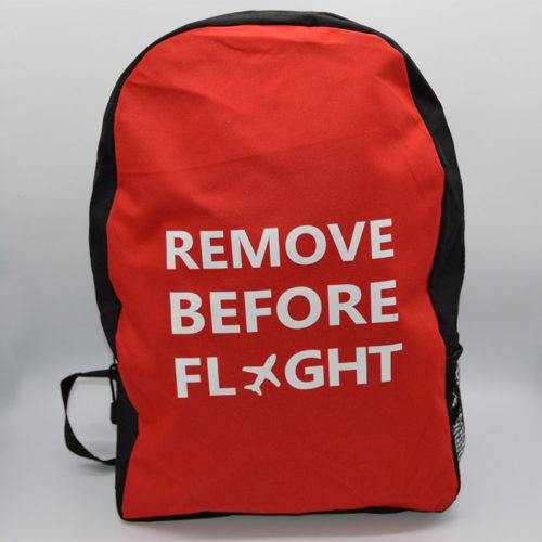 Remove Before Flight Student Backpack