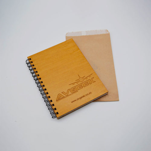 Avgeek Wooden Notebook