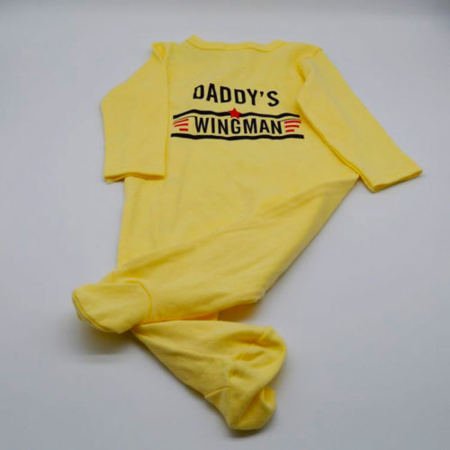 Daddy's Wingman Yellow Babygrow