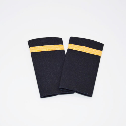 1 Stripe Gold Braiding Epaulette Set