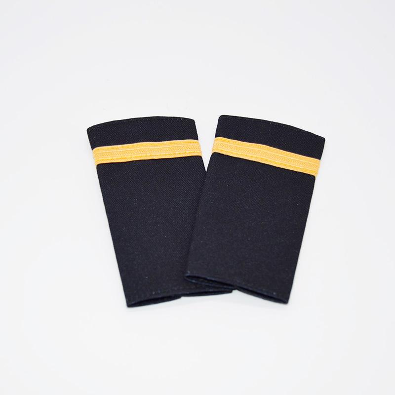 1 Stripe Gold Braiding Epaulette Set
