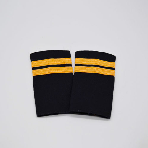 2 Stripe Gold Braiding Epaulette Set