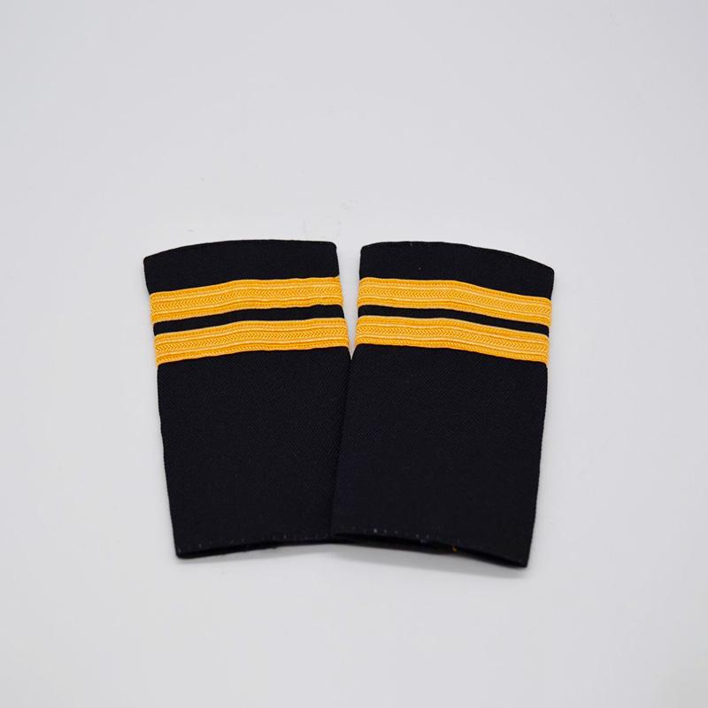 2 Stripe Gold Braiding Epaulette Set