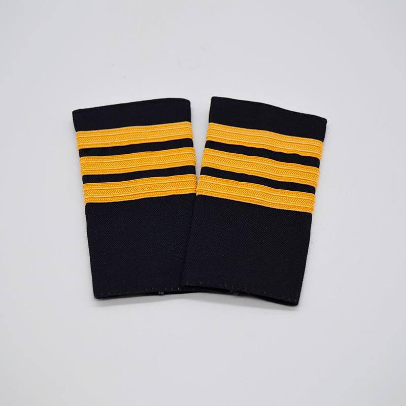 3 Stripe Gold Braiding Epaulette Set