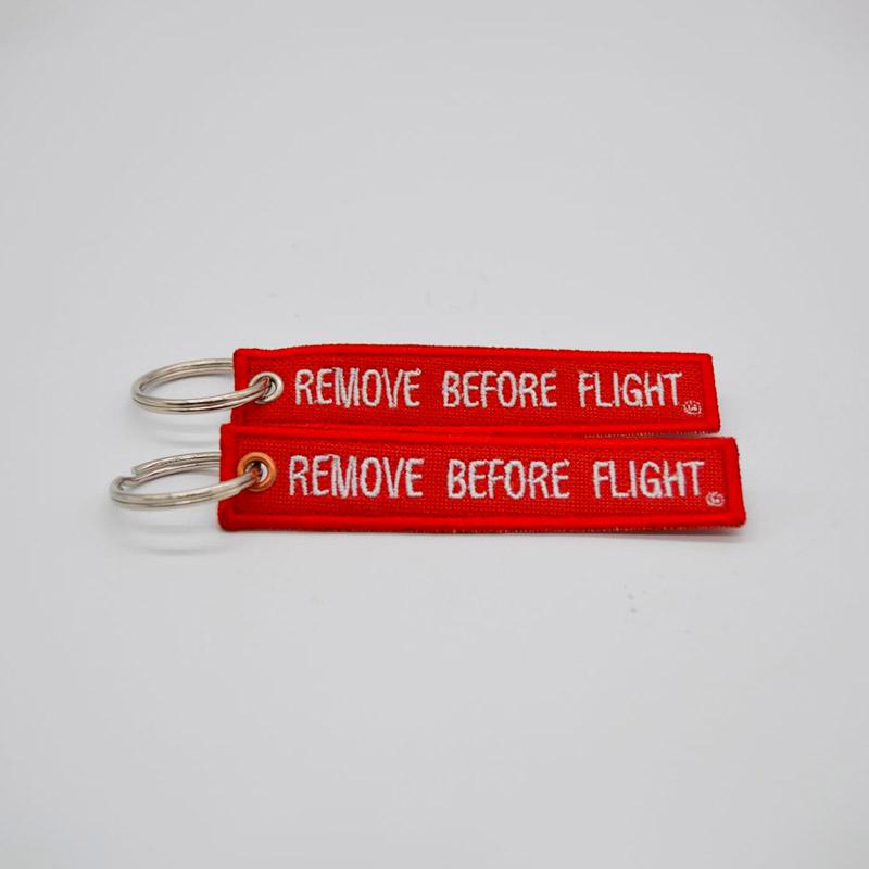 Removed Before Flight Keyring