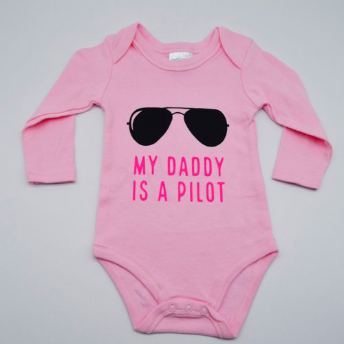 My Daddy is a Pilot Pink