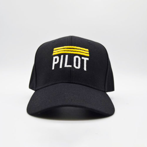 Pilot 6 Panel Cap with Velcro Strap