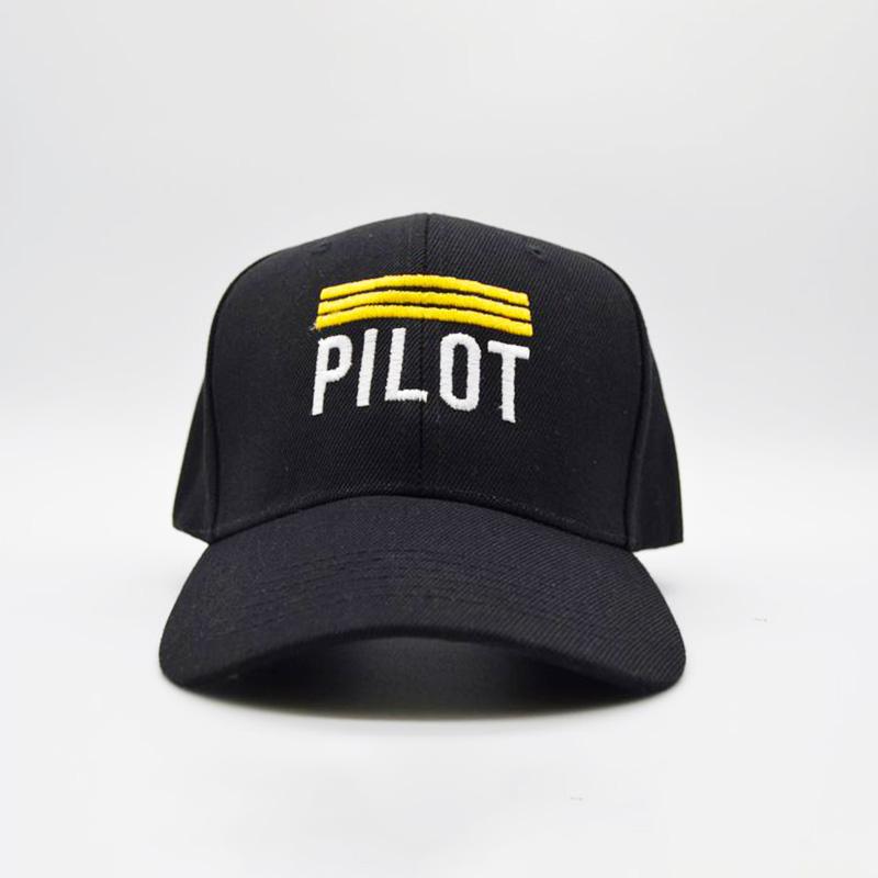 Pilot 6 Panel Cap with Velcro Strap