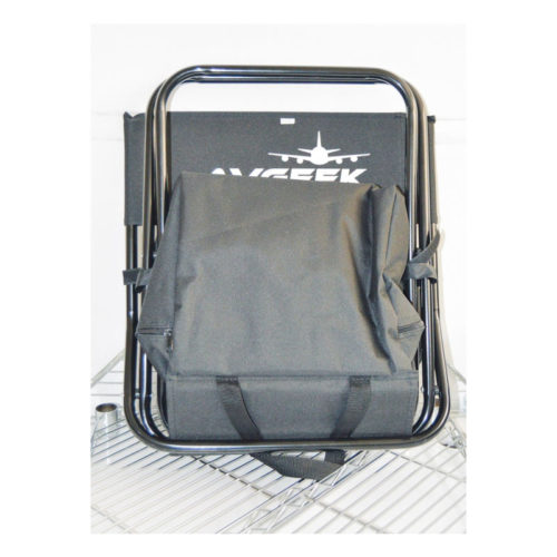 Avgeek Black Campchair with Cooler Box Set